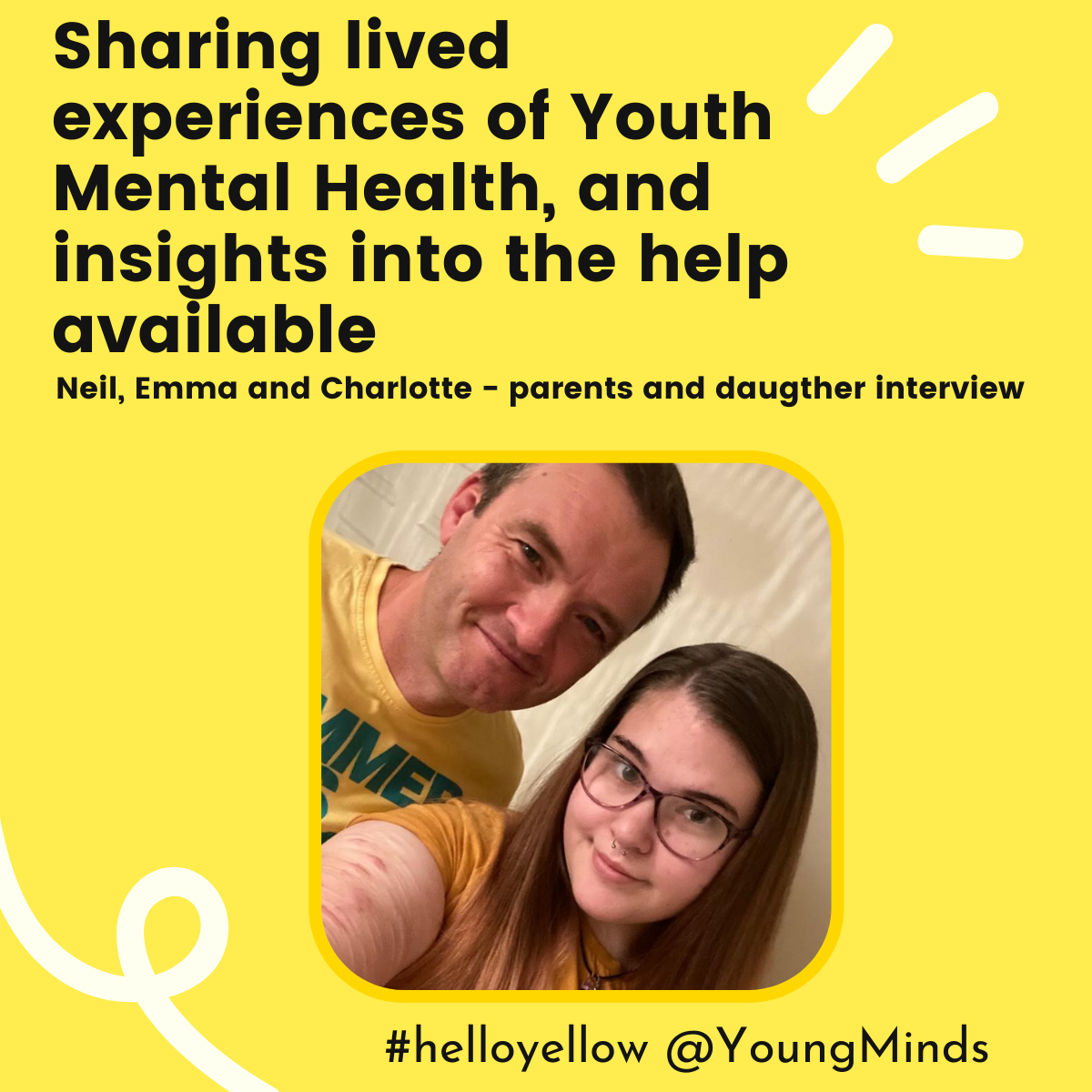 #helloyellow for YoungMinds interview